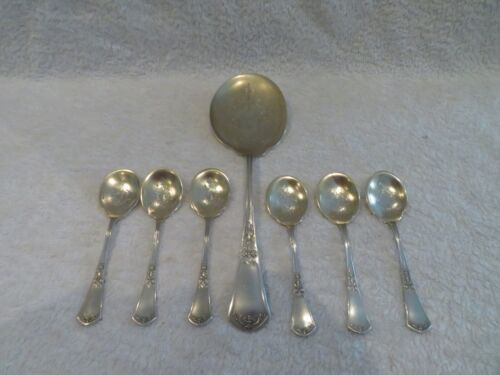 Gorgeous 1900 french sterling silver ice cream cutlery set 7p empire st Soufflot