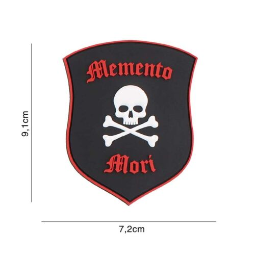 Airsoft morale patch 3D PVC MEMENTO MORI skull  hook and loopParches - 4725