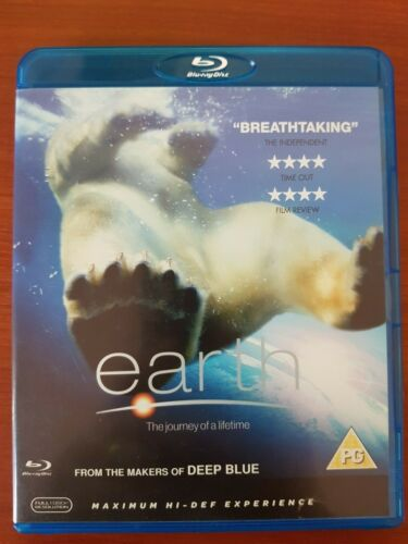 EARTH BLU RAY - DOCUMENTARY NARRATED BY PATRICK STEWART FREE POST