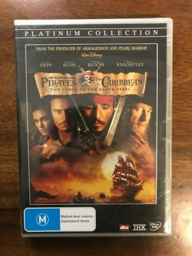 Pirates Of The Caribbean: The Curse Of The Black Pearl DVD Region 4 New & Sealed