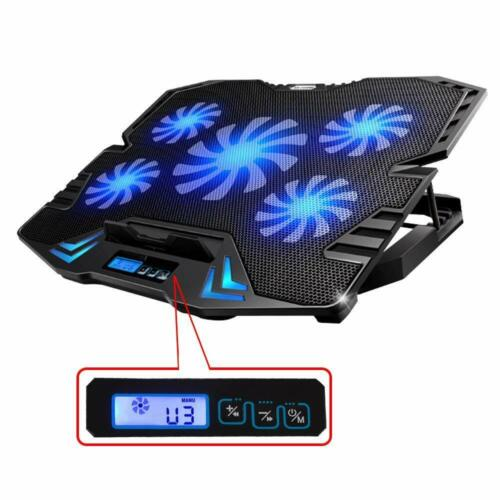 TOPMATE 12-15.6 Inch Gaming Laptop Cooler, Five Quite Fans And LCD Strong Wind