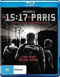 THE 15:17 TO PARIS BLU RAY - NEW & SEALED DIRECTED BY CLINT EASTWOOD FREE POST