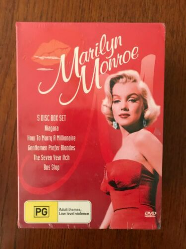 Marilyn Monroe: 5 Movie Disc Box DVD Region 4 New