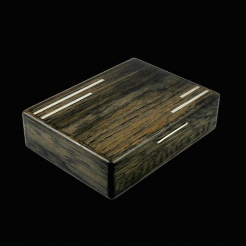 Andersen & Søhoel. Bog Oak Box with Inlaid Sterling Silver - 1960s