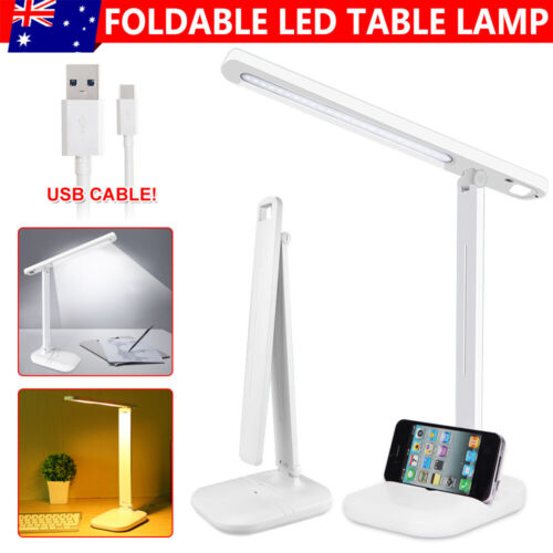 USB LED Desk Lamp Touch Senor Bedside Table Lamps  Study Reading Light  Dimmable