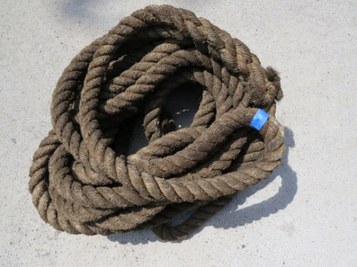 1+⅜ inch x 70 feet Used Manila Rope -(XMR269)