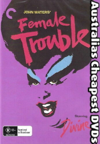 Female Trouble DVD NEW, FREE POSTAGE WITHIN AUSTRALIA REGION ALL