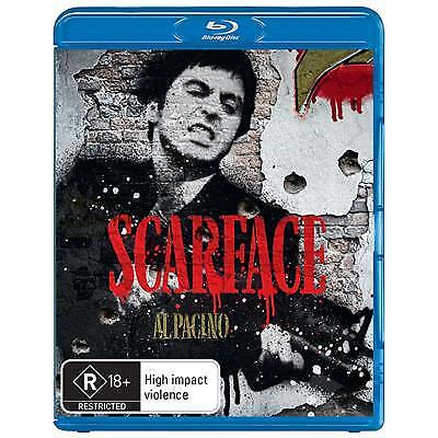 SCARFACE BLU RAY - NEW & SEALED AL PACINO, BRIAN DE PALMA, R RATED GANGSTER