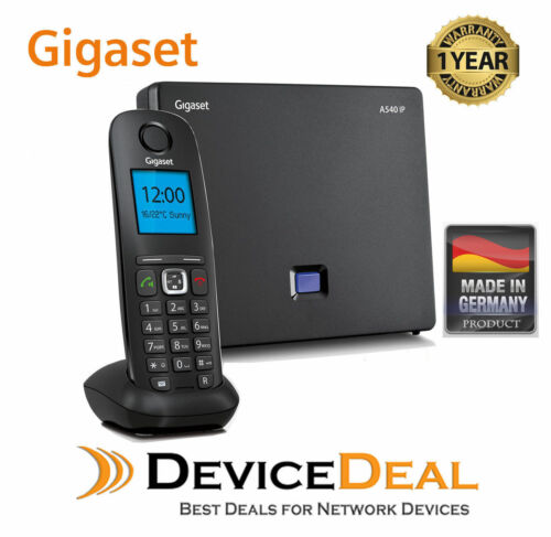 Siemens Gigaset A540 IP Cordless Dect IP Phone Base Station and Single Handset