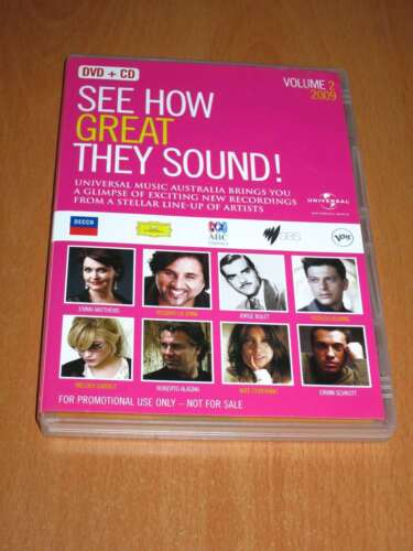 SEE HOW GREAT THEY SOUND ! VOLUME 2 ( DVD + CD SET REGION 4 ) LIKE NEW