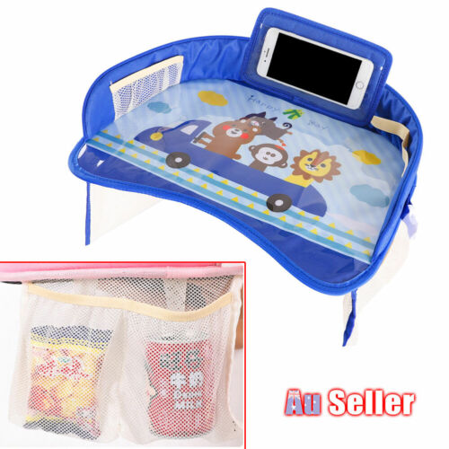 Kids Tray Car Seat Safety Travel Waterproof Baby Table Drawing Child Snack Board