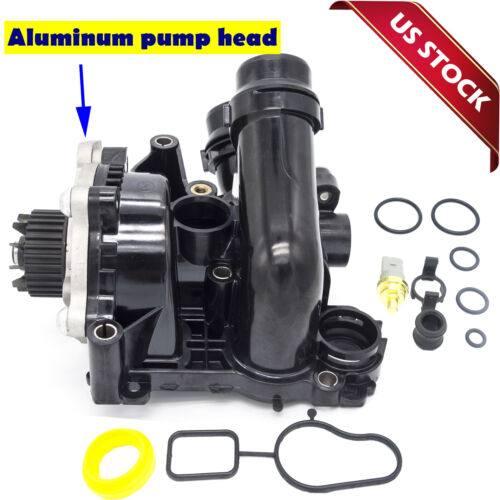 For VW Golf Jetta GTI Passat Tiguan 2.0T 1.8T Water Pump Thermostat Assembly US <br/> Coolant Pipe / Sensor /WaterPipe connect o-ring include