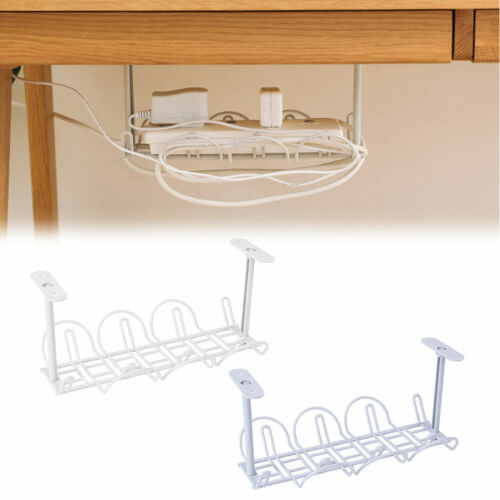 Under Adapter Organizer desk cable tray Cord Wire Power Holder Management Strip
