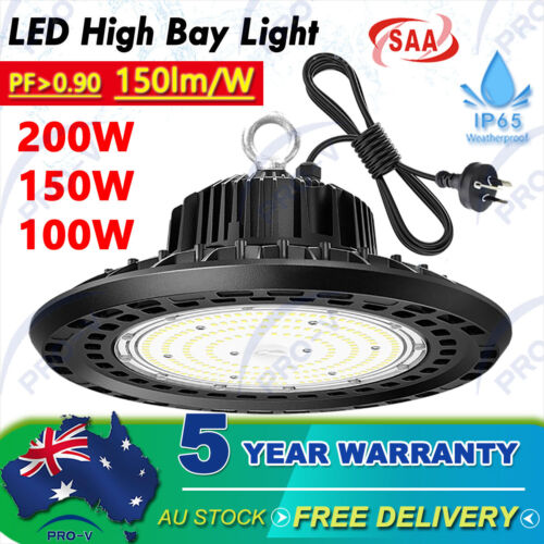 UFO LED High Bay Light 200W 150W 100W Industrial Warehouse Factory Lamp Highbays