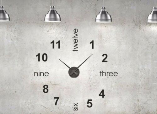 Clock Wall Sticker Mechanism Home office numbers letters