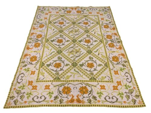 7X8 Signed Stark Needlepoint Area Rug Square Hand-Knotted Wool Carpet (6.6 x 8.5