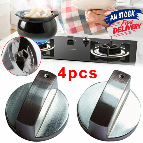 Stoves Knobs Knob(4pcs) Cooker Gas Stove Oven Silver Universal Control 6mm