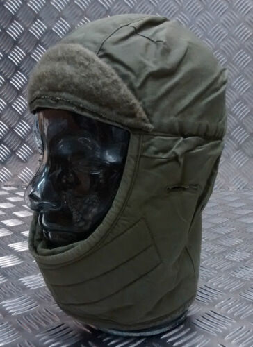 Genuine US Army Green  Helmet Liner Dog / Trapper Hat with Ear Flaps