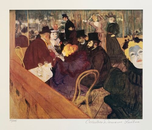 Henri Toulouse Lautrec Moulin Rouge Estate Signed Limited Edition Giclee Art