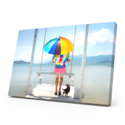 Personalised Photo Canvas Print Your Picture Framed Wall Hanging A3 Canvas Art  <br/> Photo Artwork Print Ready to Hang Deep Frame Large Box