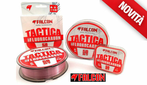 FLUOROCARBON 100% FALCON TACTICA FC PINK 50 MT DIAMETRI DALLO 0.10 ALLO 0.80 MM