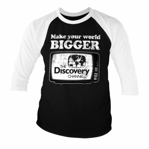 Officially Licensed Discoevry - Make Your World Bigger 3/4 Sleeve T-Shirt S-XXL