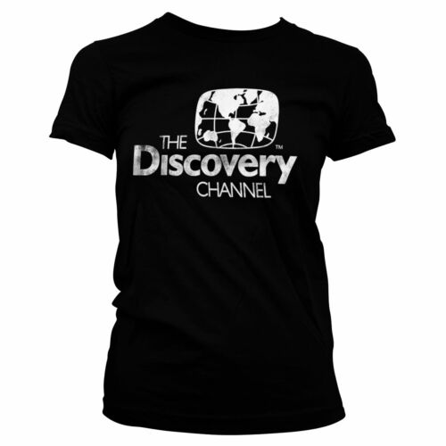 Officially Licensed Discovery Channel Distressed Logo Women T-Shirt S-XXL Sizes