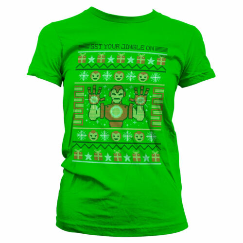 Officially Licensed Iron Man - Get Your Jingle On Women T-Shirt S-XXL Sizes