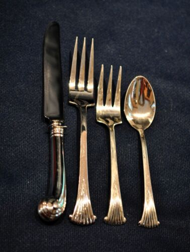 ONSLOW BY TUTTLE STERLING  FOR 8 STERLING FLATWARE SET PROFESSIONALLY POLISHED