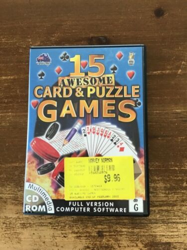 15 AWESOME CARD & PUZZLE GAMES COMPUTER PC GAME LIKE NEW
