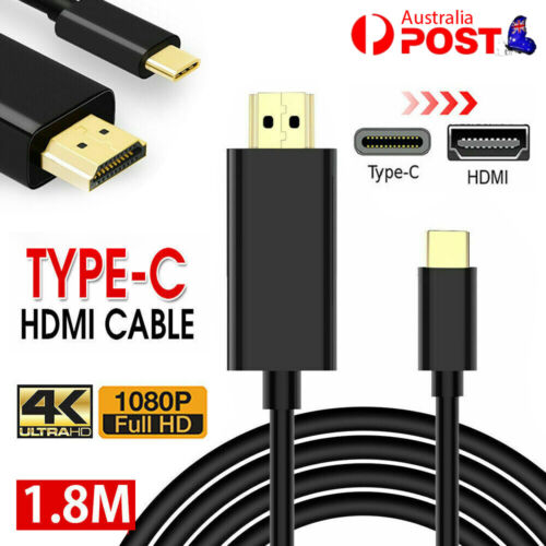 USB C to HDMI Cable USB 3.1 Type C Male to HDMI Male 4K Cable For Samsung S9/S8+
