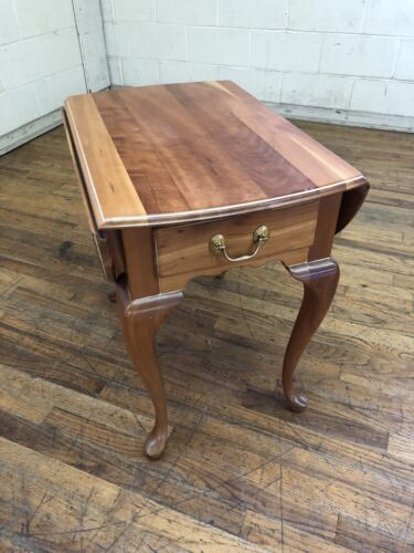 Harden Cherry Single Drawer Drop Leaf End Table