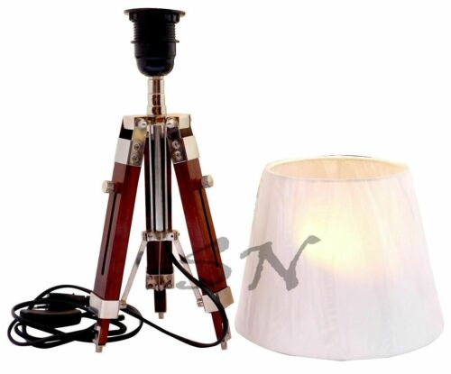 Nautical Floor Shade Light Lamp Brown Wooden Stand For lamp Light