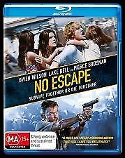 NO ESCAPE BLU RAY - NEW & SEALED OWEN WILSON, LAKE BELL,PIERCE BROSNAN FREE POST