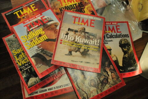 TIME Magazine 1990's GULF WAR Series 8 issues