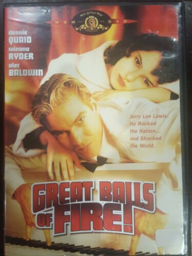 GREAT BALLS OF FIRE RARE DVD DENNIS QUAID & WINONA RYDER JERRY LEE LEWIS FILM