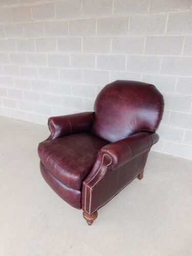 Vanguard Regency Style Faux Alligator Leather Club Chair Recliner