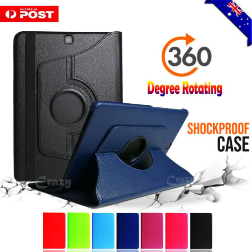 """For Samsung Galaxy Tab S2 9.7"""" S3 9.7"""" Rotating Leather Stand Flip Case Cover"""