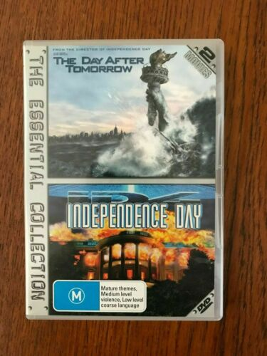 The Day After Tomorrow / Independence Day DVD Region 4 Disc VGC Like New