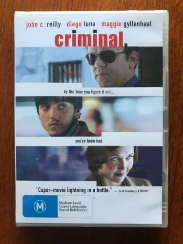 Criminal DVD Region 4 New & Sealed JOHN C REILLY