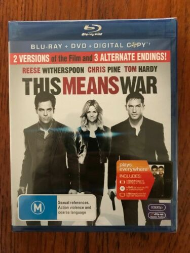 This Means War Blu-ray Region B New & Sealed Reese Witherspoon