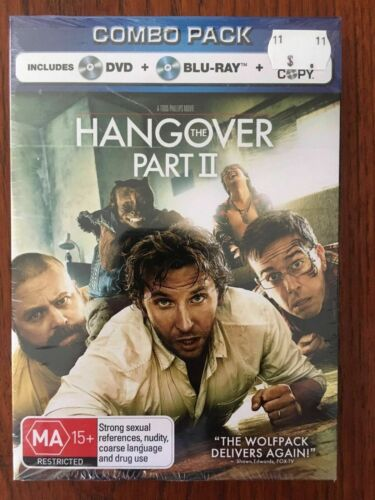 The Hangover Part II Blu-ray & DVD (2 Disc Set) *New & Sealed *Free Postage