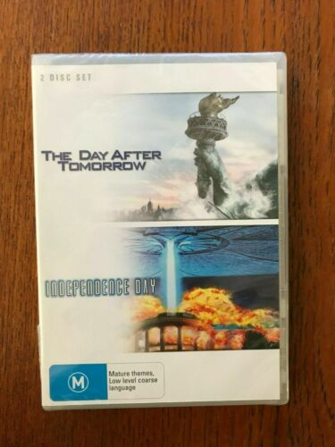 The Day After Tomorrow / Independence Day DVD Region 4 New & Sealed