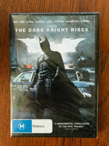 The Dark Knight Rises DVD New & Sealed Region 4 Christian Bale
