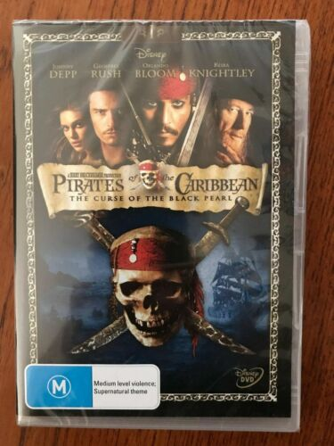 Pirates Of The Caribbean: The Curse Of The Black Pearl DVD New & Sealed Region 4
