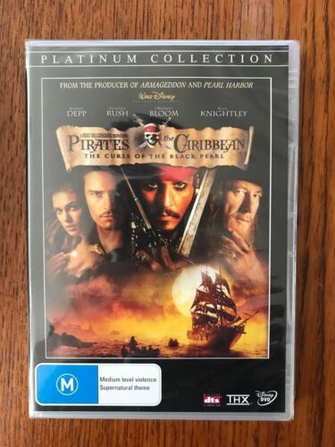 Pirates Of The Caribbean:The Curse Of The Black Pearl DVD New & Sealed Region 4
