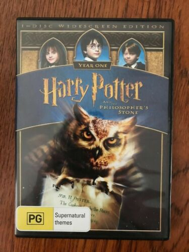 Harry Potter And The Philosopher's Stone DVD Region 4 Disc VGC Family Film