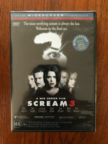 Scream 3 DVD New & Sealed Region 4