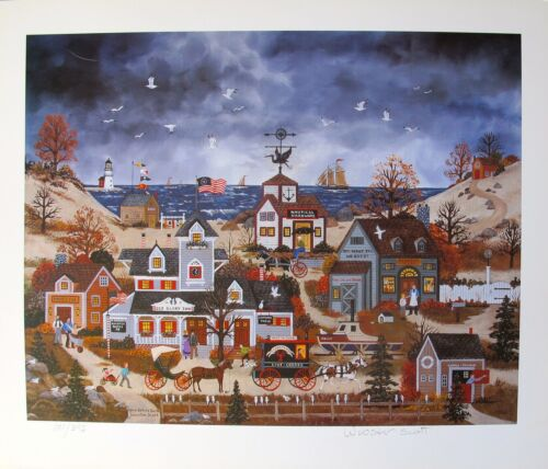 Jane Wooster Scott HOME BEFORE DARK Hand Signed Limited Edition Art Lithograph