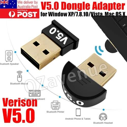 USB Dongle Adapter For Bluetooth V5.0 PC Laptop Computer Receiver